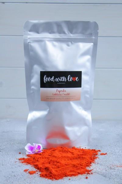 Premium-Paprikapulver aus Ungarn by «food with love» im wiederverschließbaren Aromabeutel