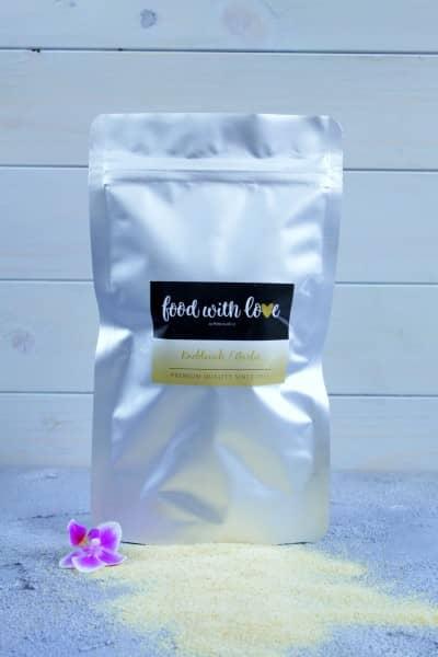 Bio-Knoblauchgranulat aus China by «food with love» im wiederverschließbaren Aromabeutel