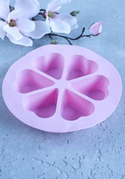 Silikon-Muffinform rosa Herzen - ideal für den Varoma