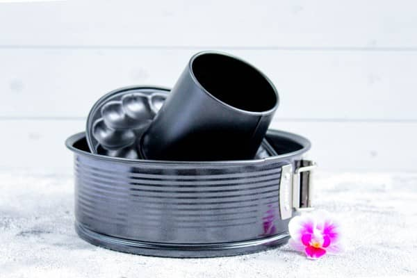 Springform für Varoma FwL | 2 Böden | black metallic | Ideal für Thermomix TM6/TM5/TM31