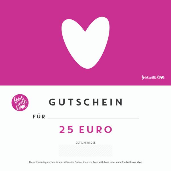 Geschenkgutschein «Herz» für foodwithlove.shop