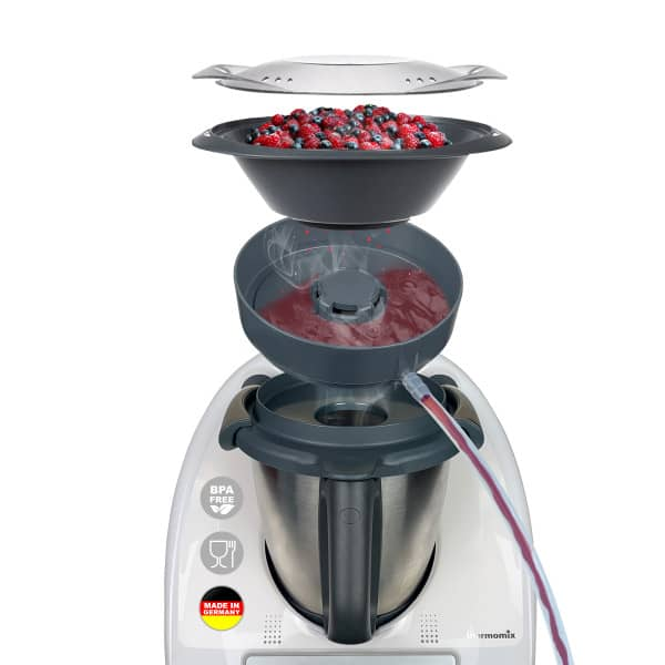 MixFino Dampfentsafter-Aufsatz für Thermomix TM6, TM5, TM31 und Friend