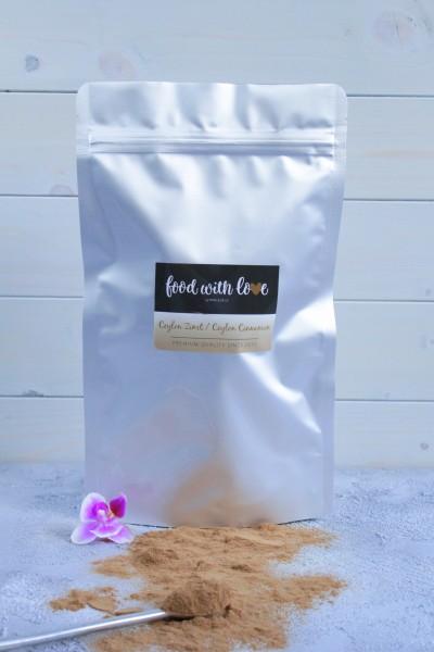 BIO-Ceylon-Zimtpulver by «food with love» im wiederverschließbaren Aromabeutel