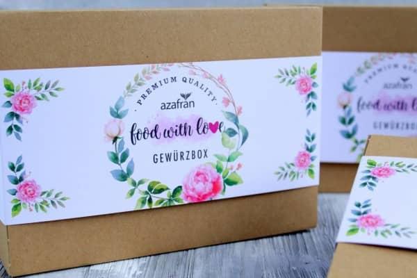 Gewürze-Geschenkbox (Set mit 4 exklusiven Gewürzen) by «food with love»