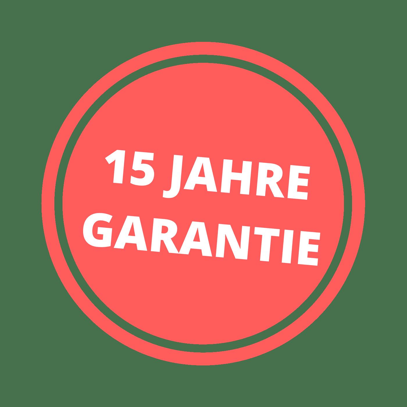 15-Jahre-Garantie