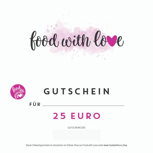 Geschenkgutschein «food with love» für foodwithlove.shop
