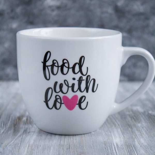 Tasse «food with love»