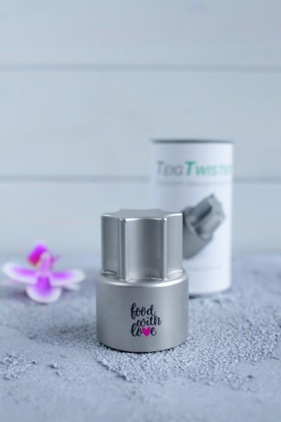 TeigTwister® für TM5/TM6 | «Food with Love» Edition | Teiglöser aus Edelstahl für Thermomix TM5/TM6