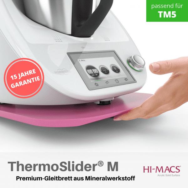 ThermoSlider® M | V1 | Kandy Pink | Premium-Gleitbrett für Thermomix TM6/TM5